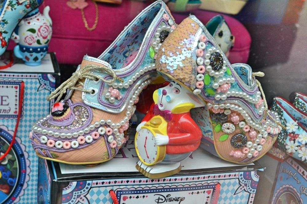 Alice in Wonderland womens shoes - White Rabbit Mad Hatter sandals