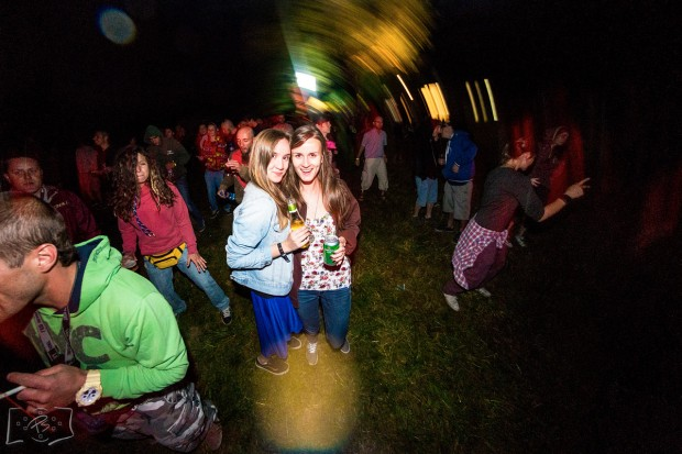 Kinky sisters attending the Broken Balkanz festival