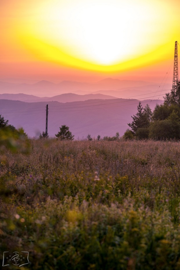 Sunset over Vitosha Mountain