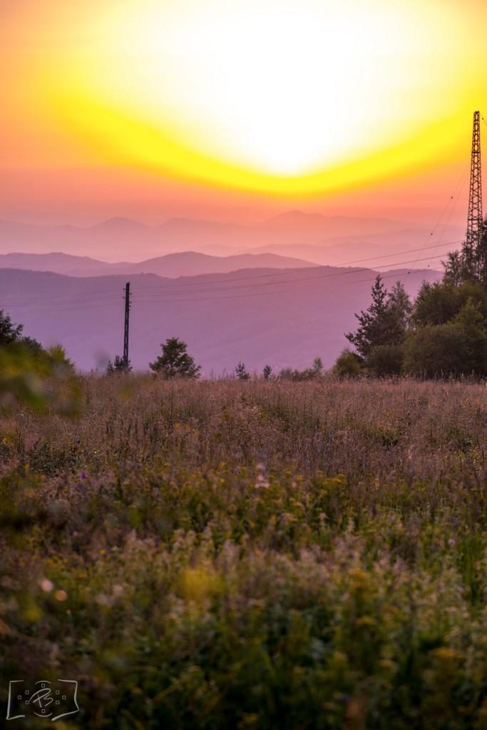 Sunset over Vitosha Mountain