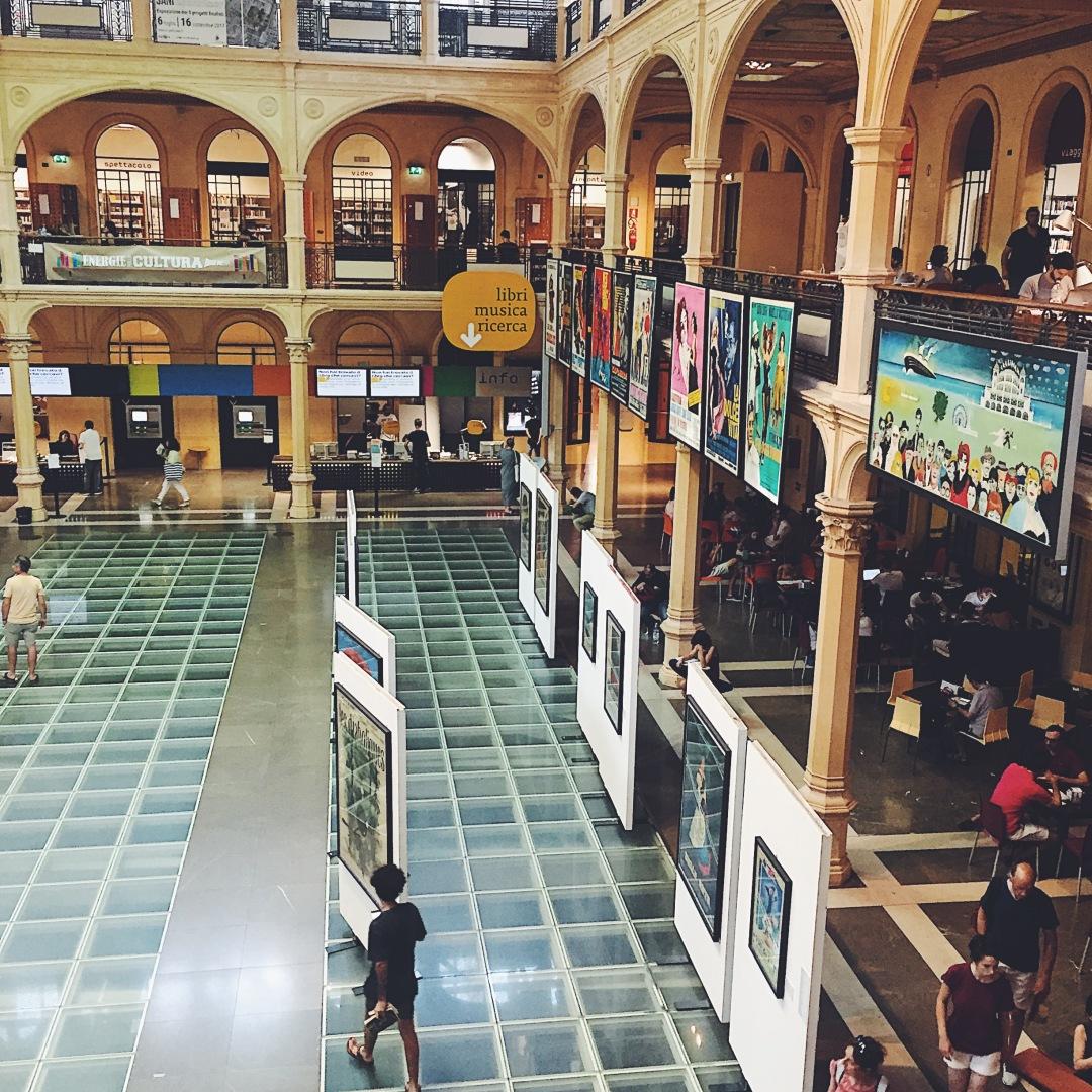 Salaborsa library - main public library of Bologna