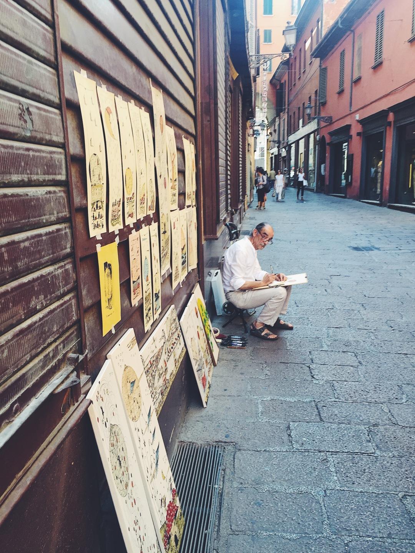 Bologna local street artists
