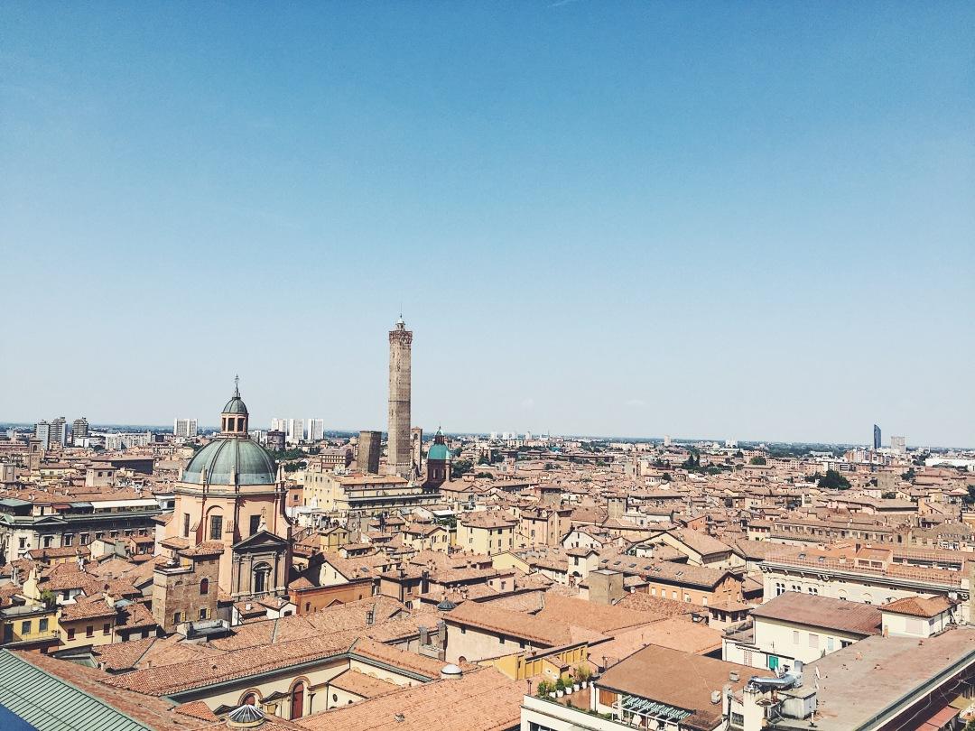 Bologna from a bird's eye view - San Petronio