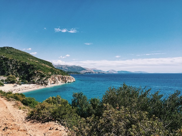 Gjipe beach - Gjipe Canyon - where the Ionian Sea meets the Adriatic Sea -   плаж Джипе Албания