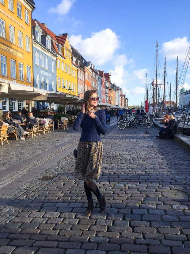 Nyhavn commercial district in Copenhagen