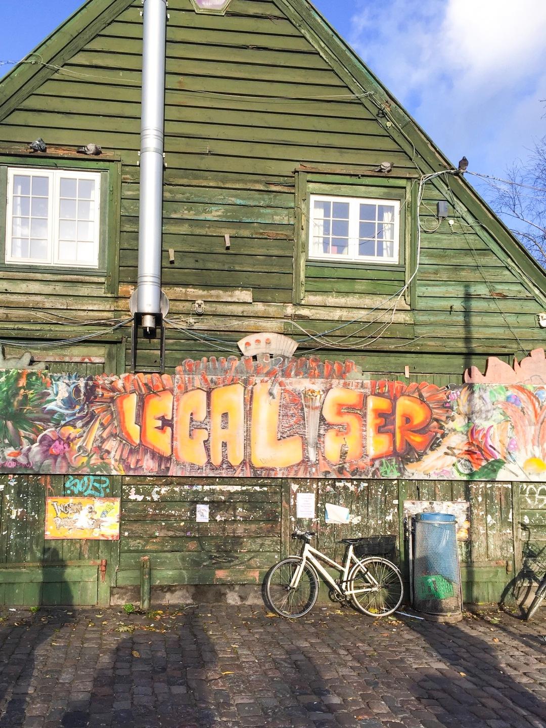 Freetown Christiania in Copenhagen cannabis booths
