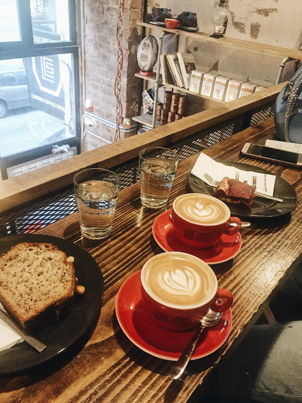 London Coffee Society Budapest Hungary La Marzocco cappuccino