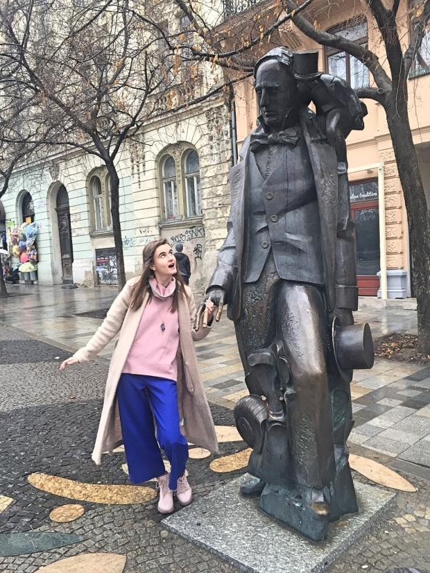 Hans Christian Andersen statue Bratislava Slovakia