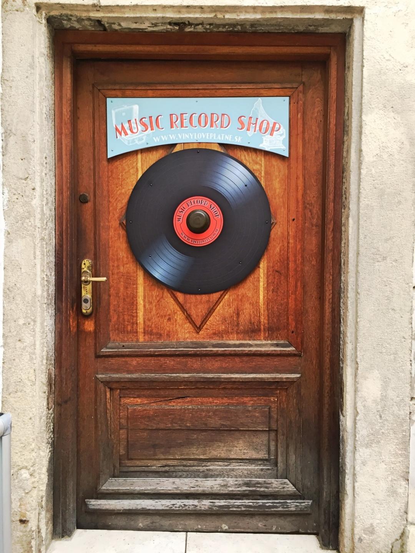 Record stores Bratislava Slovakia Old Town
