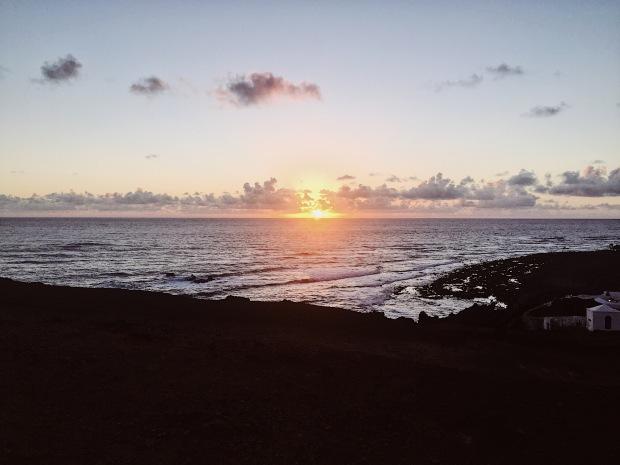 El Golfo sunset in Yaiza, Lanzarote, Islas Canarias