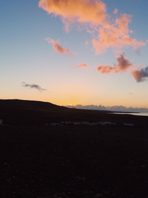 Playa Quemada Yaiza Lanzarote sunrise July morning