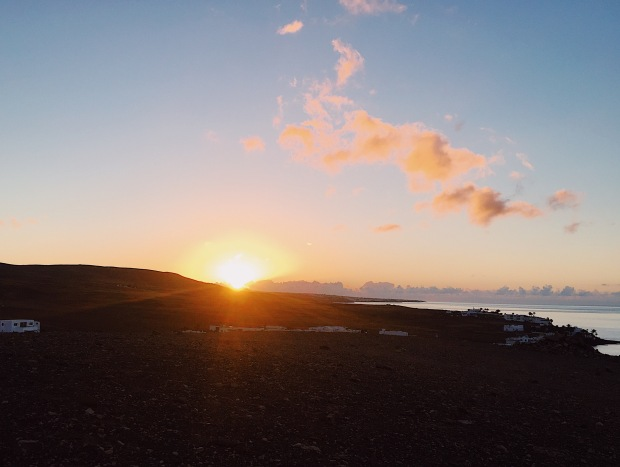 sunrise in Playa Quemada Yaiza Lanzarote
