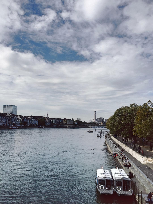 Rhine river in Basel - Switzerland