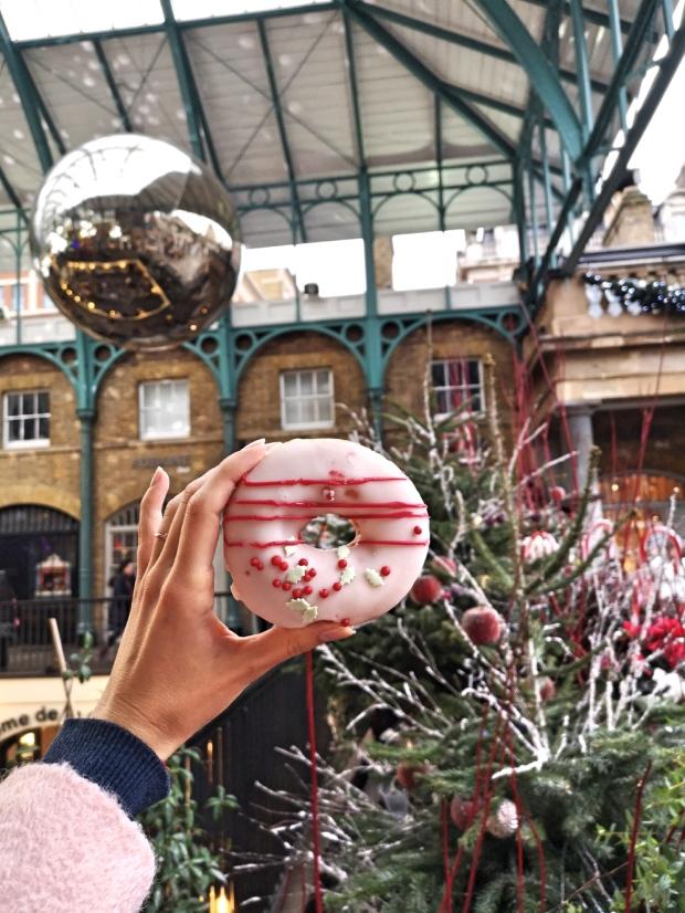 krispy kreme Christmas doughnuts menu Covent Garden London 2018