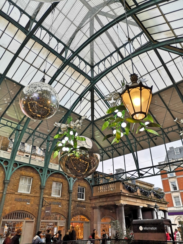 Christmas decoration in Covent Garden London winter 2018