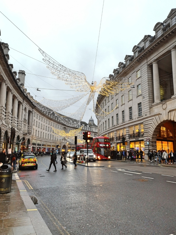 Regent Street - Christmas decoration - London winter 2018