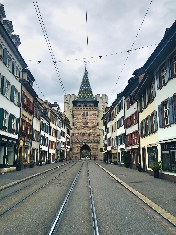 Spalentor gate Basel old town
