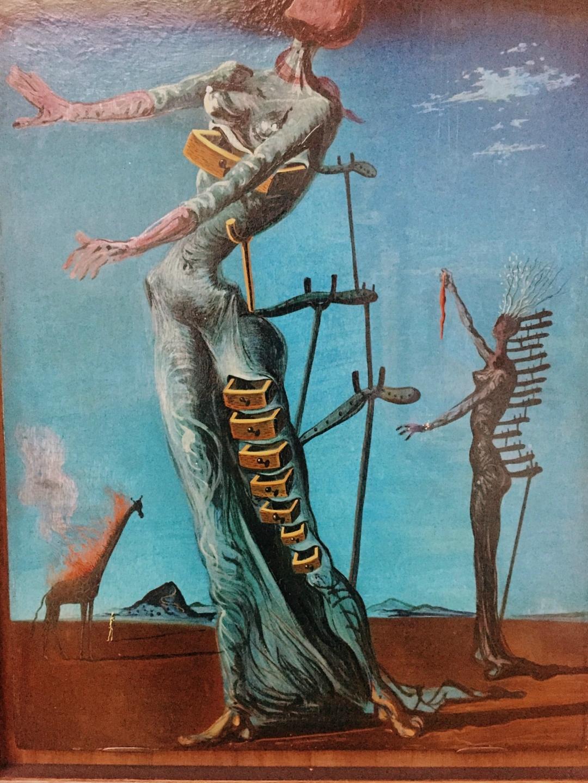 The burning giraffe Salvador Dali in Kunstmuseum - Basel Switzerland