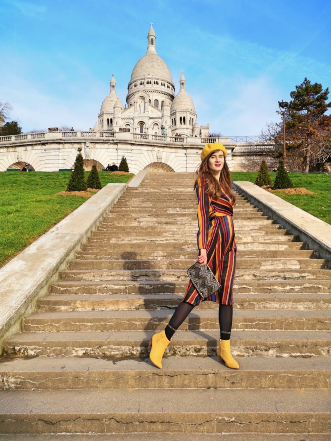 Most Instagrammable spots in Paris France - Montmartre hill Sacre Coeur
