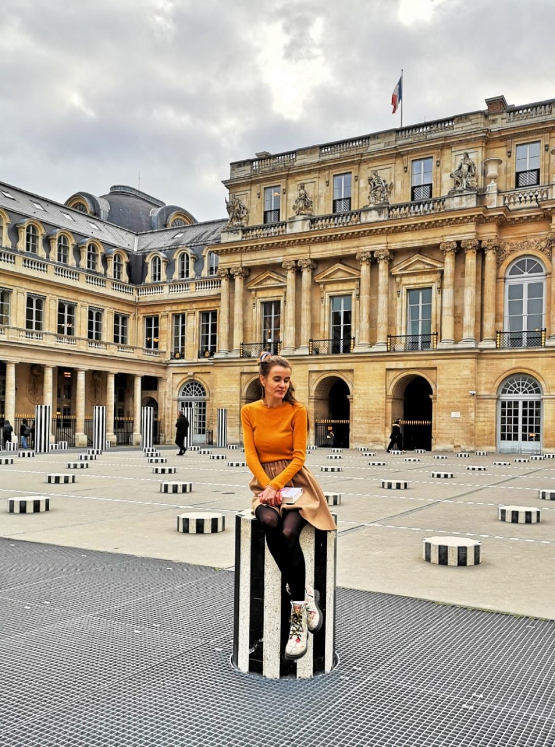 Les Deux Plateaux - Colonnes de Buren - Palais Royal - Instagram pictures in Paris