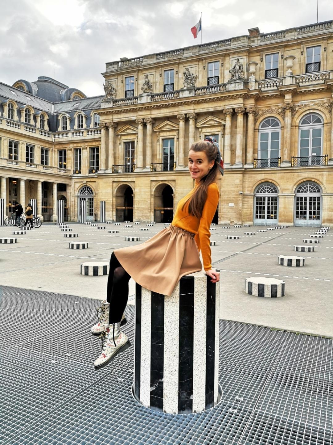 Colonnes de Daniel Buren - Palais Royal - best spots for Instagram pictures in Paris