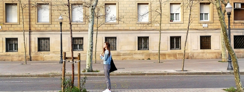 Street style bloggers in Barcelona