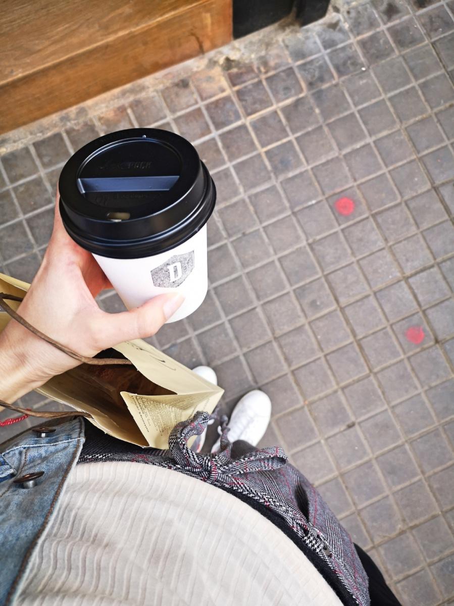 Departure Coffee Barcelona best flat white vegan milk