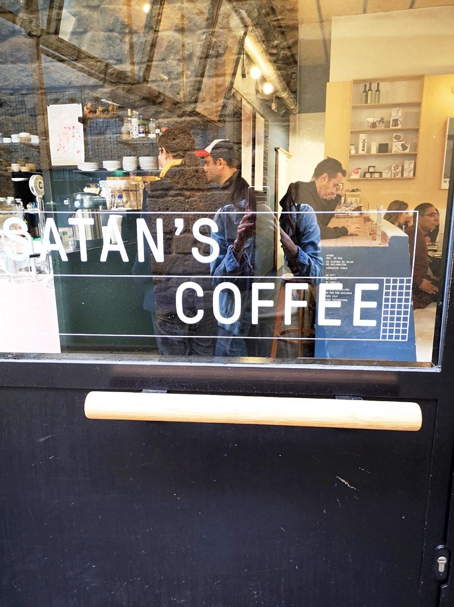 Satan Coffee Barcelona address Carrer del'Arc de Sant Ramon del Call