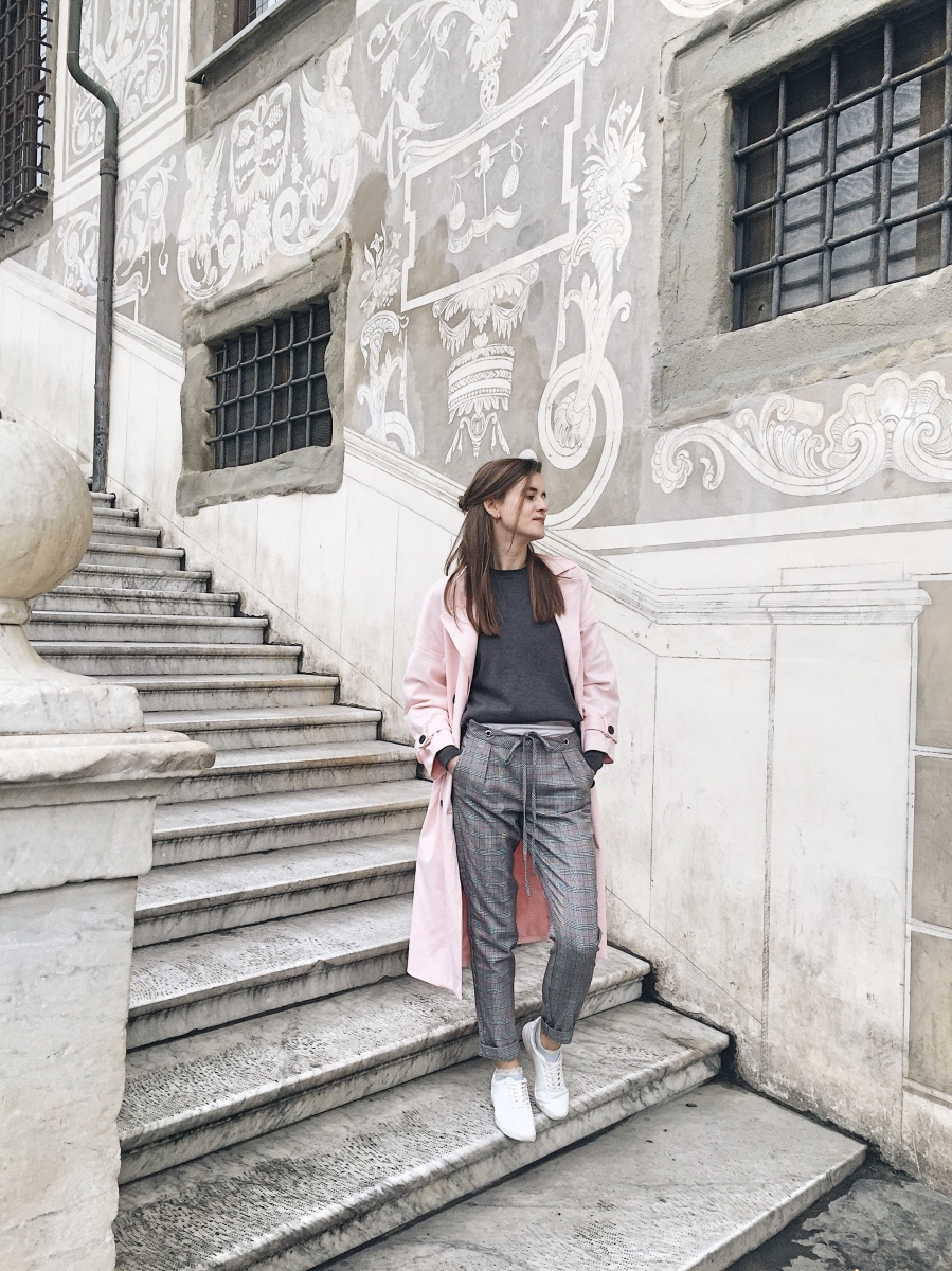 Casual city walk in Pisa Tuscany