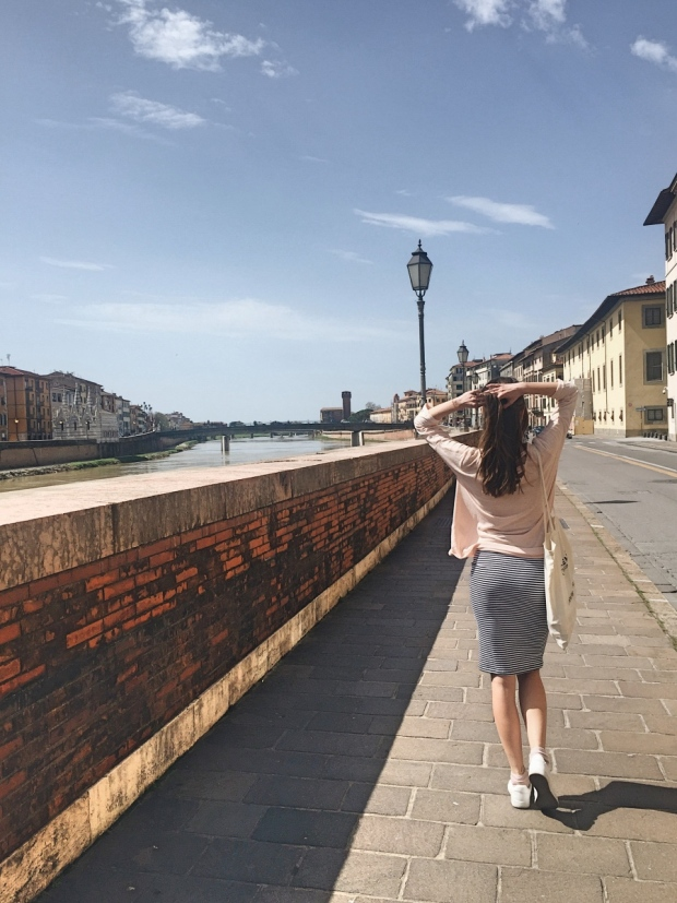 Historic center of Pisa on river Arno - best cities in Tuscany