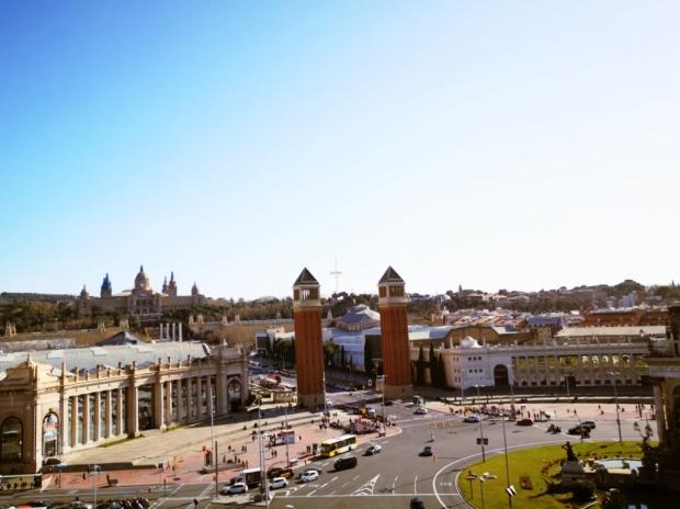 Torres Venecianes - Palau Nacional - Arenas de Barcelona