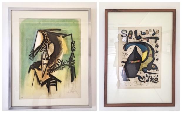 рисунки на Пабло Пикасо и Жоан Миро в Лансароте