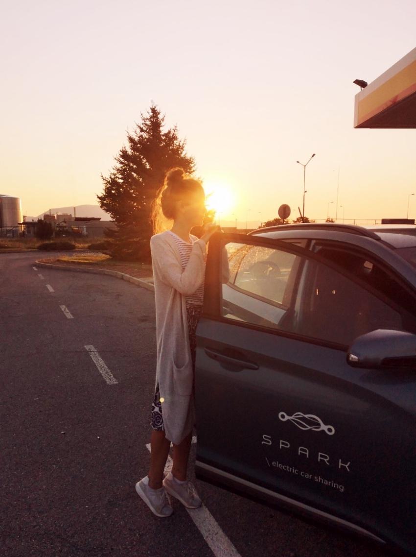 Electric car Spark charging stations in Bulgaria - seaside