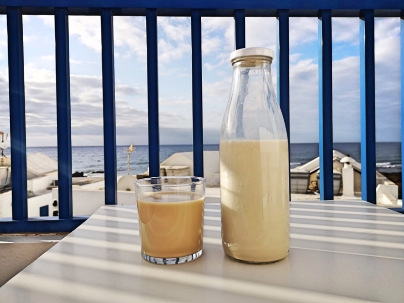 Horchata made from almonds