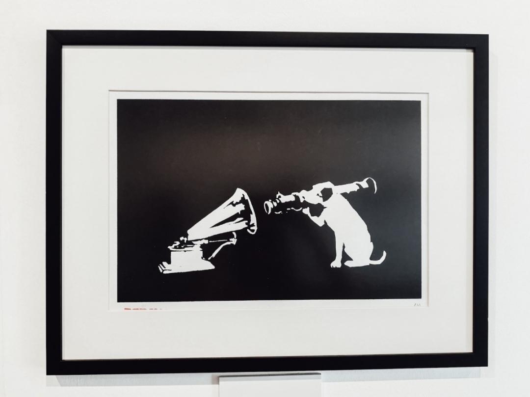 HMV dog by Banksy