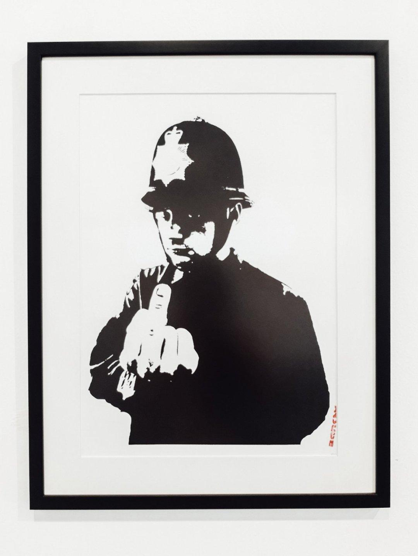 Rude Copper policeman by Banksy