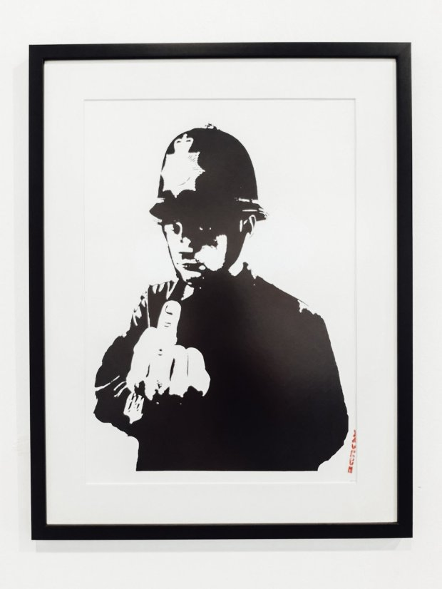 Rude Copper policeman by Banksy