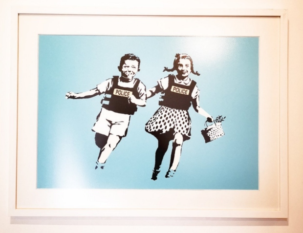 Police kids JAck and Jill by artist Banksy