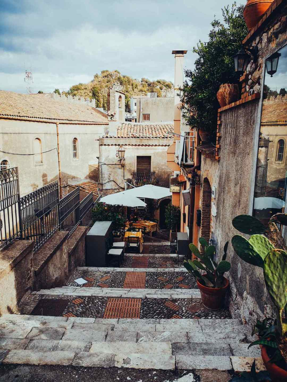 Pedestrian streets in Taormina - Porta Messina Taormina