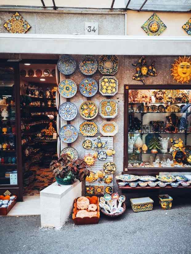 Corso Umberto shopping streets Taormina Sicily