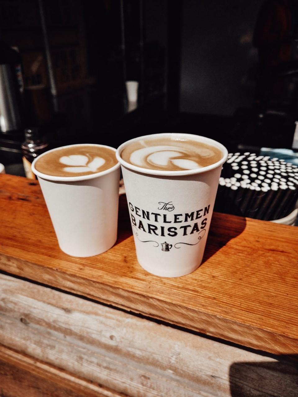 The Gentlemen Baristas coffee at Vinegar Yard Market