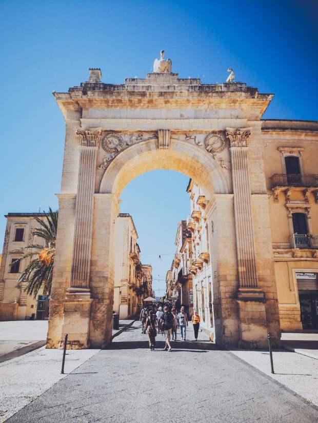 Porta Reale Corso Vittorio Emanuele in Noto