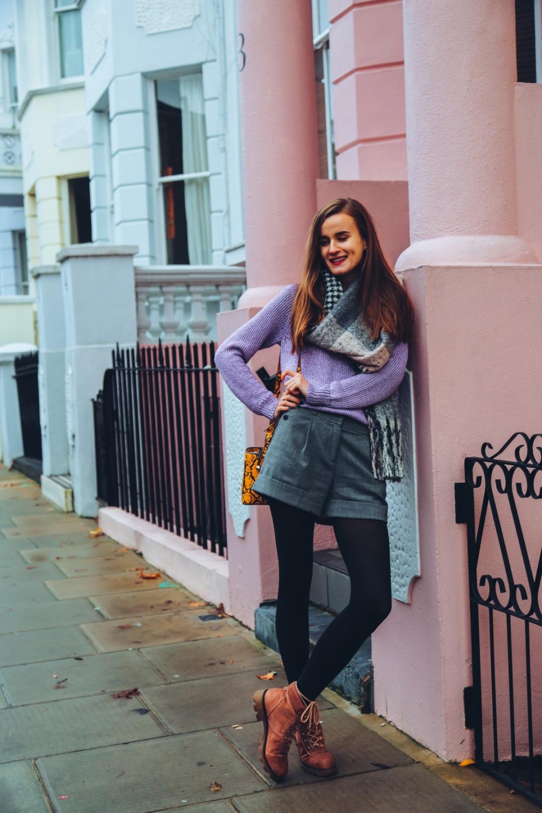 Розови къщи в Нотинг Хил Лондон