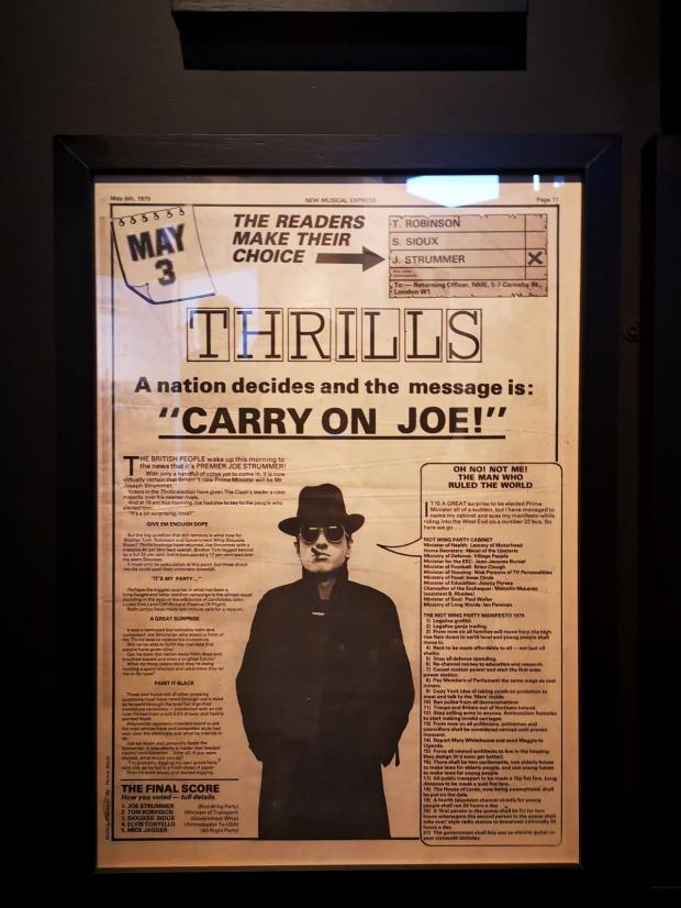Джо Стръмър The Clash изложба