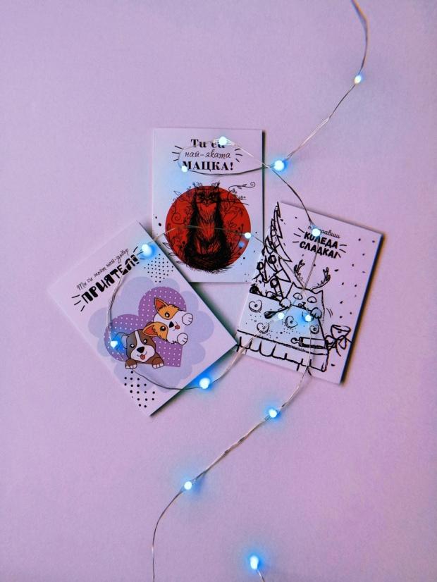 Устойчиви еко подаръци за Коледа Редом с Коте картички